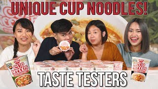 Unique Cup Noodles Including Korean Army Stew?! | Taste Testers | EP 102