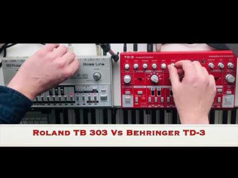 ROLAND TB 303 vs BEHRINGER TD3