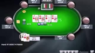 Раздача дня Школы Покера PokerStarter: Опасный борд.