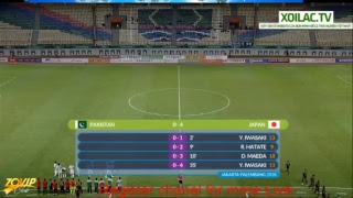 Live Men Football ASIAD 2018: U23 Pakistan VS U23 Japan | 16-Aug-2018