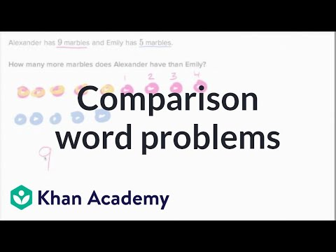 Comparison Word Problems | Addition And Subtraction Within 20 | Early Math | Khan Academy