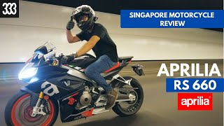 TRACK BIKE FOR DAILY COMMUTE?! - 2021 Aprilia RS 660 | SINGAPORE MOTORCYCLE REVIEW