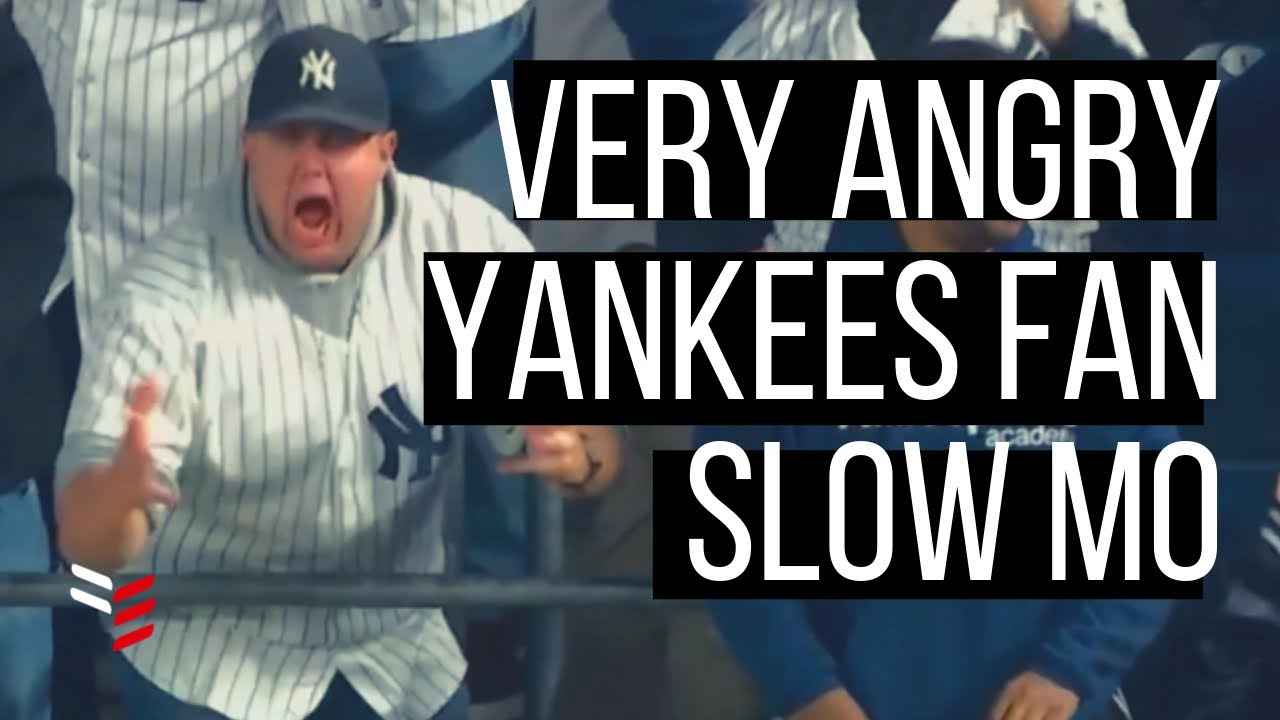 Very Angry Yankees Fan | Slow Motion | Baseball Highlights | New York Yankees vs Houston Astros