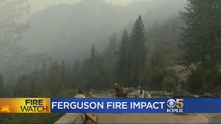 Ferguson Fire Burning In Yosemite Impacts Tourists