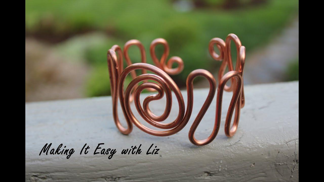 Easy Wire Work Cuff Bracelet Atlantic Waves