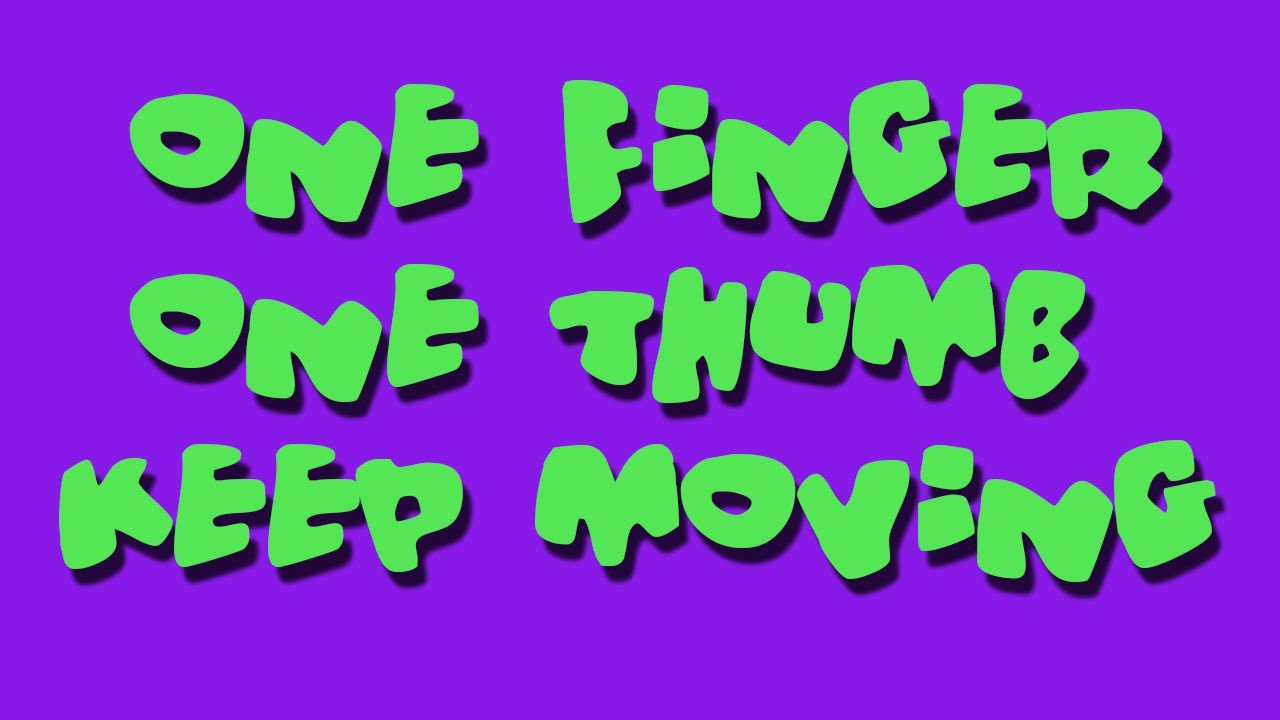 1 1 thumb finger