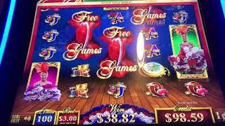 "$HAND PAY$ ""Grand""Jackpot Can Can de Paris Video Slot Machine 6 Bonuses $3.00 max bet"
