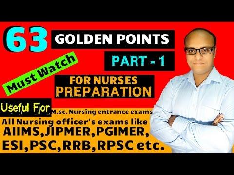 63 Golden points part 1 for nurses preparation