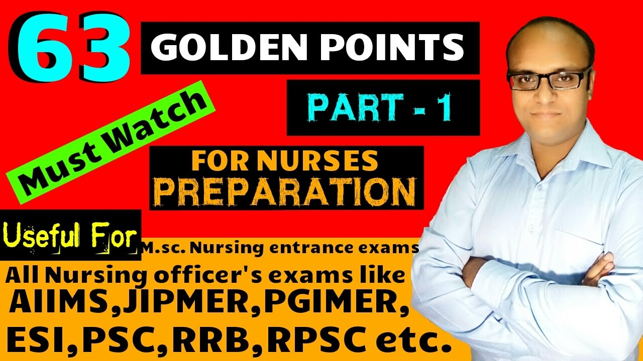 63 Golden points part 1 for nurses preparation