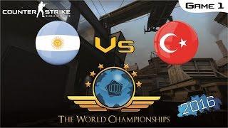 CS:GO World Championship 2016 - Argentina Vs Turkey [Game 1] (Final)