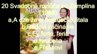 Moje naj / Monika Kandráčová / 20 / Svadobná rozlúča zo Zemplína ... (1988)