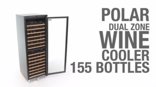 Polar Dual Zone Wine Cooler 155 Bottles (ce218)