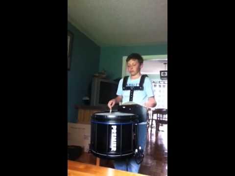 Kavan Practicing His Drumming