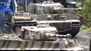 Stahl auf der Heide 2014 ♦ Big Scale Tanks Tiger 1/4 Panzer Wehrmacht Modellbau RC