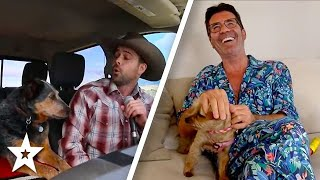 SINGING DOG!? Country Singer Sings With his Dog At Home on AGT 2020 | Got Talent Global