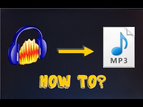 TUTORIAL: Wie kann man eine Audacity-Aufnahme als MP3 speichern?