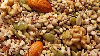 Рецепт.  Как быстро пожарить  орехи и семечки  в микроволновке.