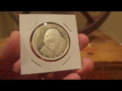 2013 Suriname & 2015 Congo Silverback Gorilla World 1 oz Silver Coins