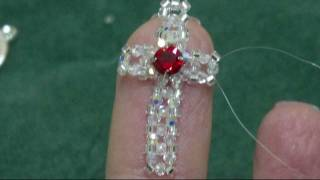 Beading4perfectionist: 2mm swarovski + miyuki cross. Earings or phone dangle tutorial