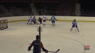 McDavid working on his shot at Oilers practice