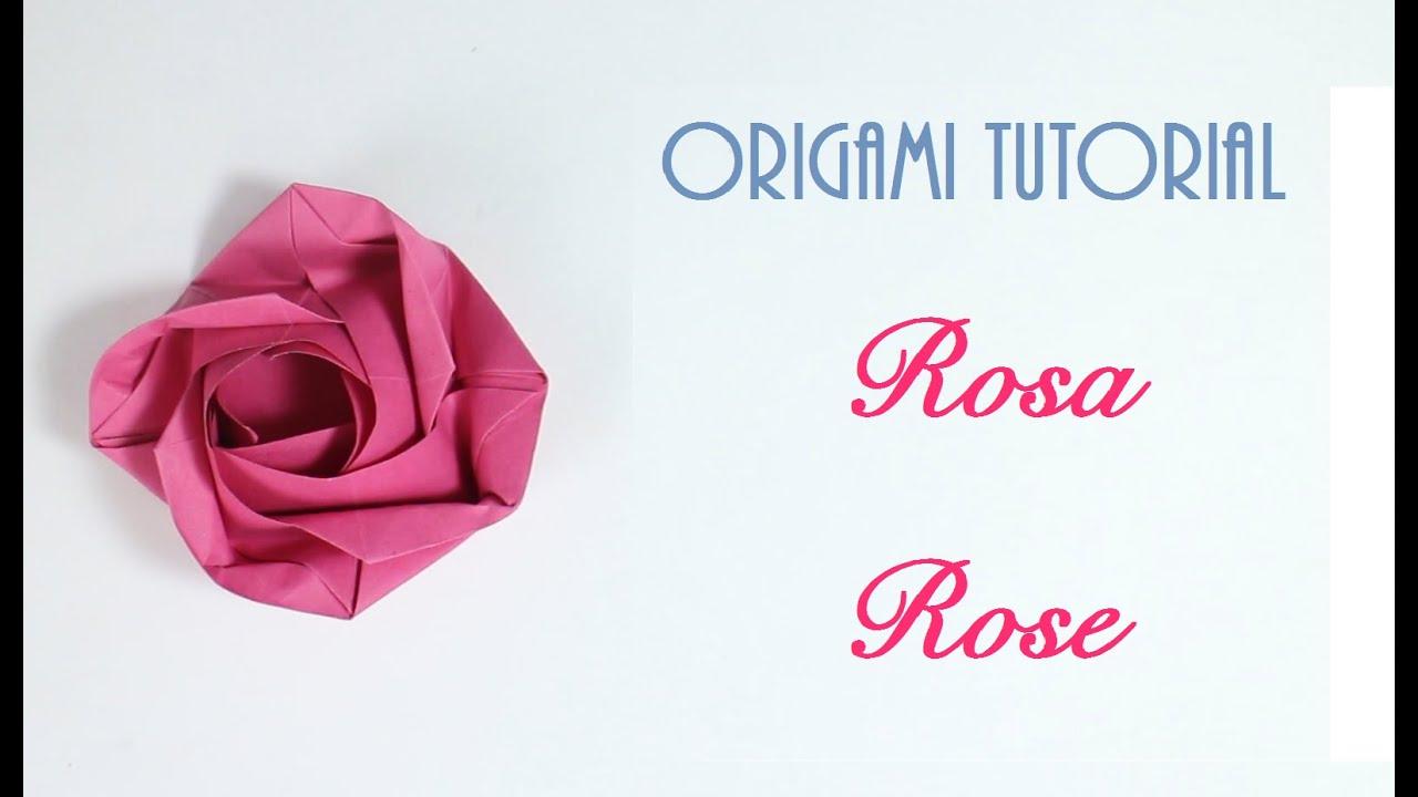 Origami Tutorial: Rose | Rosa - YouTube - photo#23
