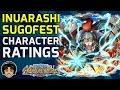 Unit Ratings & Reviews - Inuarashi / Dogstorm Zou Sugofest [One Piece Treasure Cruise]