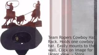 Team Ropers Cowboy Hat Rack - Lonestarwesterndecor.com