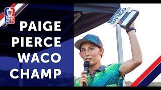 2018 WACO Champion: Paige Pierce