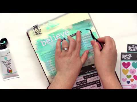 How to Use Acrylic Paint Scraping in your Bible | Bible Journal | Lesson 1 | Rebekah R Jones