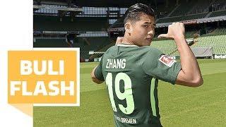 Werder-Neuzugänge - Nouri freut sich auf Zhang