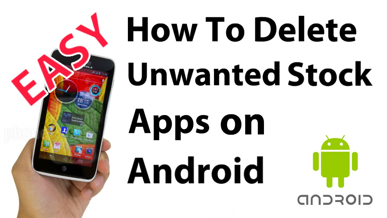 how to delete apps android