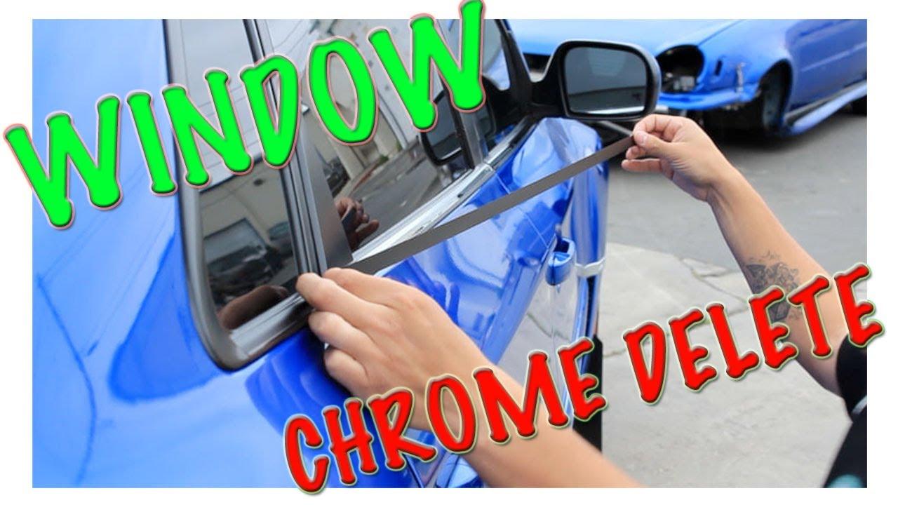 Vinyl window trim molding - How To Install Vinyl Window Chrome Trim Delete
