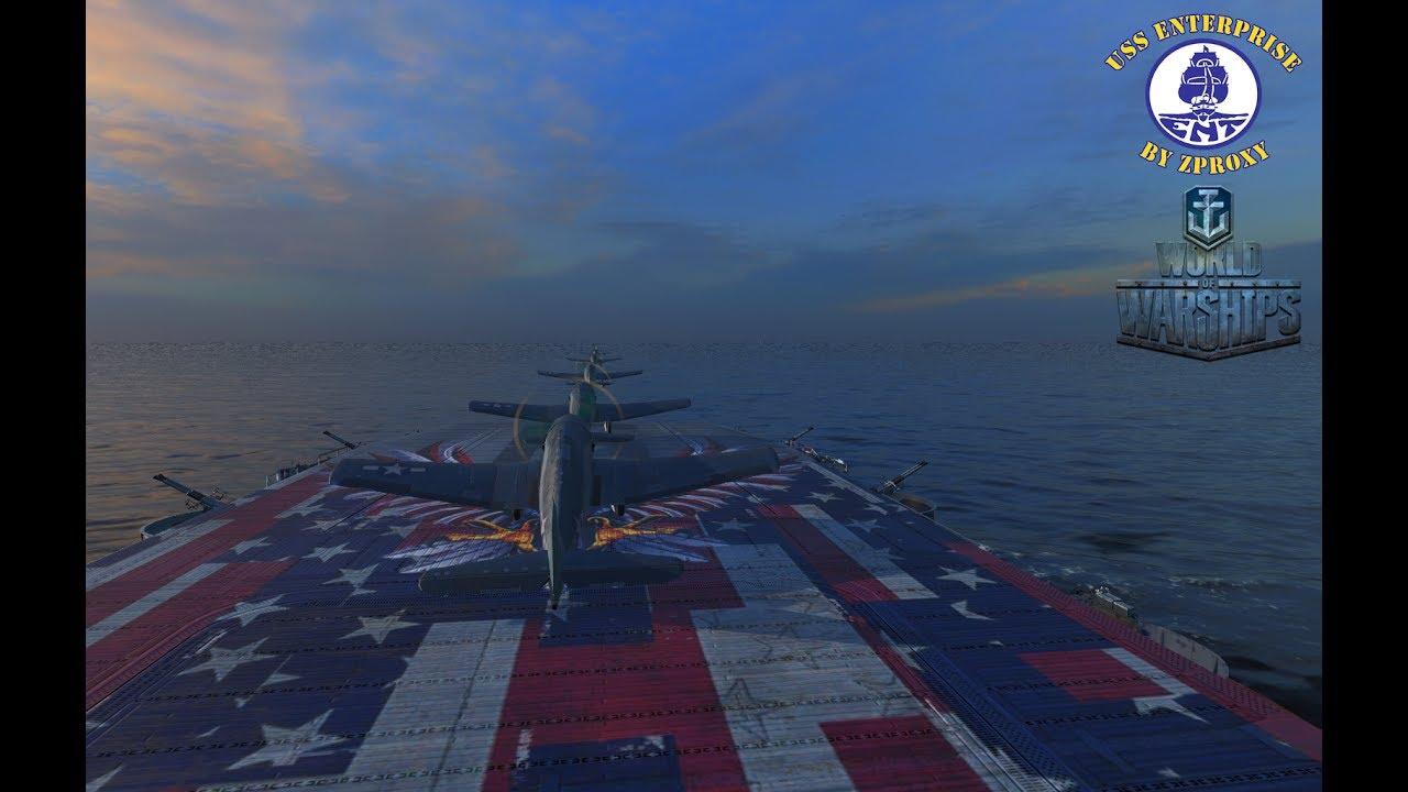 mod for world of warships enterprise  cv
