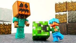 Маскарад для Стива Майнкрафт и Алекс. Игрушки Лего и Гравити.