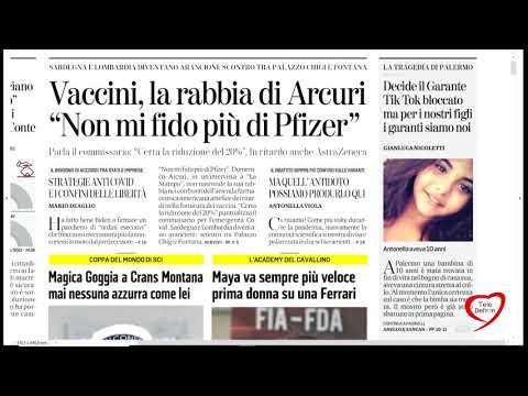 I giornali in edicola - la rassegna stampa 23/01/2021