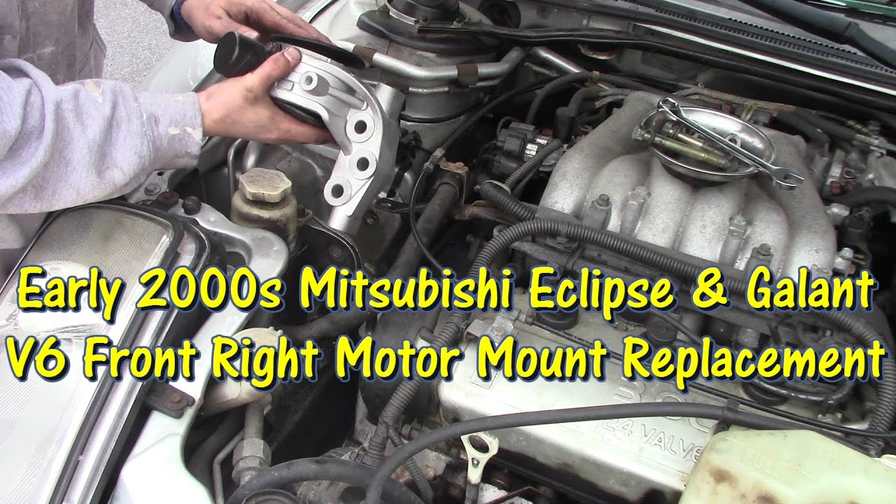 mitsubishi v6 motor mount replacement by gettinjunkdone. Black Bedroom Furniture Sets. Home Design Ideas