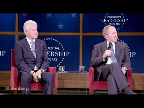 Clinton, Bush Reflect