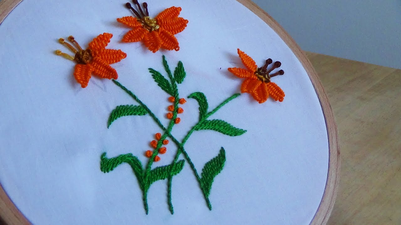 Hand Embroidery Picot Stitch  YouTube