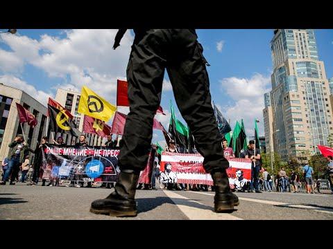 محتجون في روسيا يطالبون بوقف حجب تطبيق تليغرام