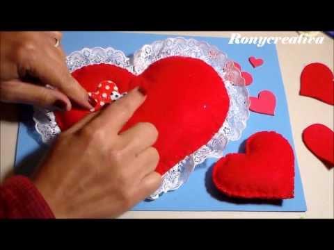 manualidades de fieltro para san valentin