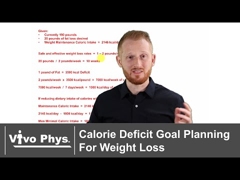 Daily and Weekly Calorie Deficit Goal Planning For Weight Loss