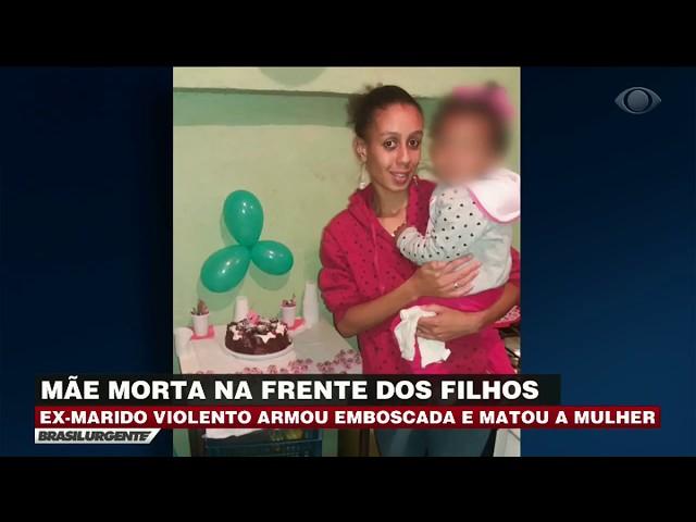 Ex-marido mata mulher na frente dos filhos