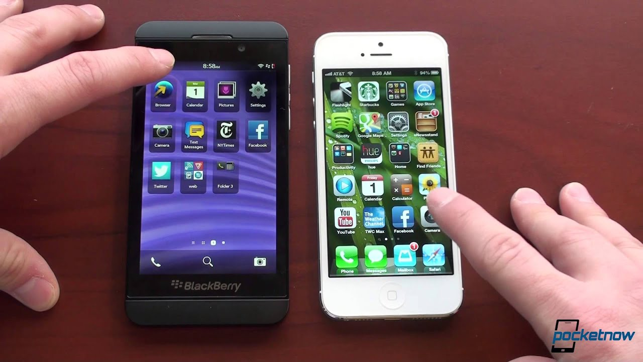 iPhone 5 vs  BlackBerry Z10 | Pocketnow