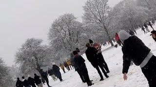 video: Two men fined £10,000 each for organising snowball fight