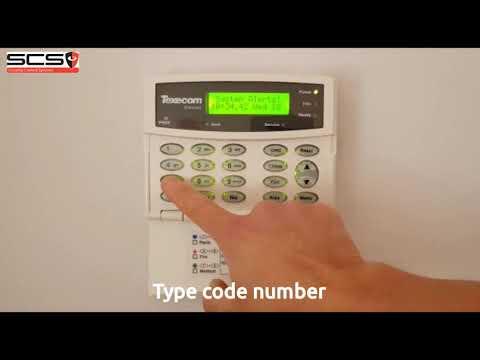 Clearing A System Alert -  Texecom Premier Elite Alarm (subtitled)