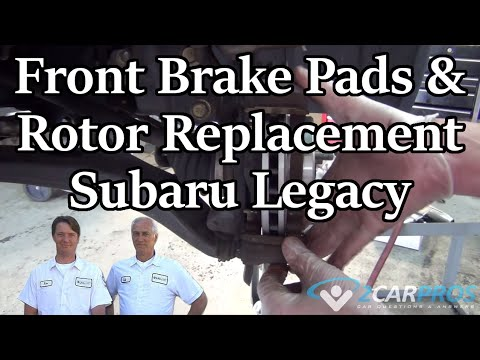 front brake pads rotor replacement subaru legacy 2003 2009 youtube. Black Bedroom Furniture Sets. Home Design Ideas