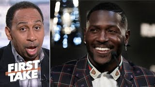 Antonio Brown looks weak for saying he has no beef with Vontaze Burfict - Stephen A. | First Take thumbnail