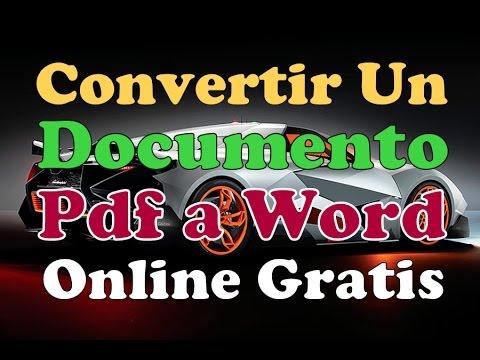 Convertidor De Archivos Pdf A Word Online Como Convertir Documento Pdf A Word Online