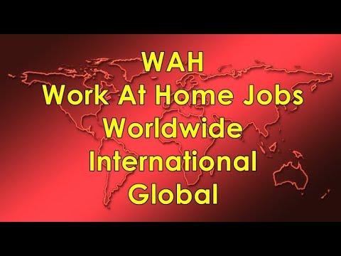 Work At Home Jobs   Worldwide   International