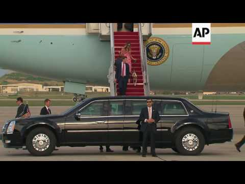 Trump family return from weekend in Florida